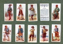 Collectible Tobacco cigarette cards History of Naval Uniforms 1937
